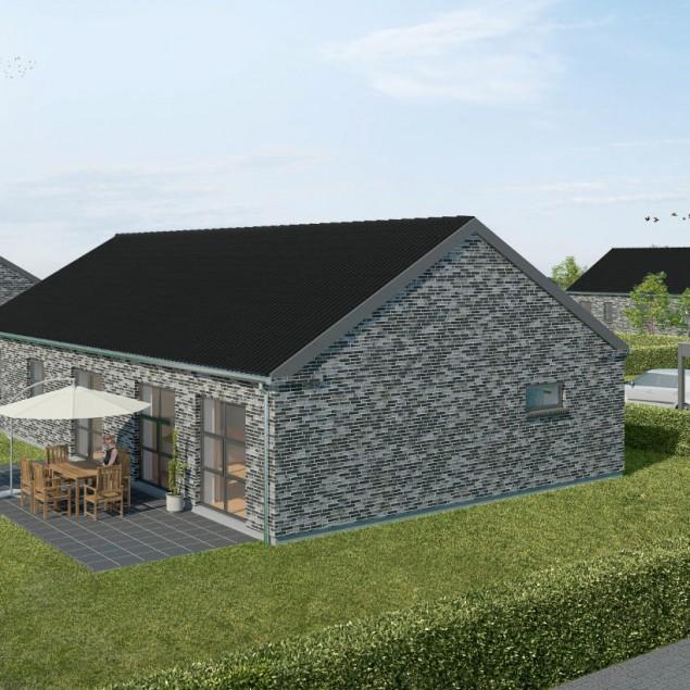 Moderne huse på udstykkede gunde